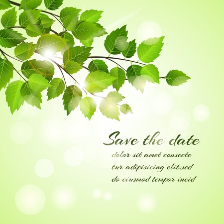 Fresh spring Save The Date card design  Vector