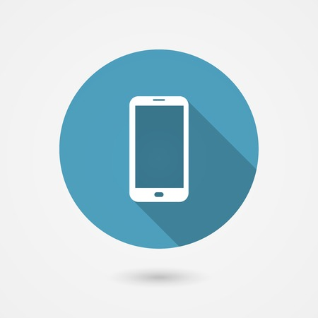 Vector smartphone icon in flat style for web and app Vector