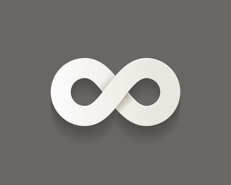 Infinity vector icon met schaduw. Concept zaken eindeloze beweging Stock Illustratie