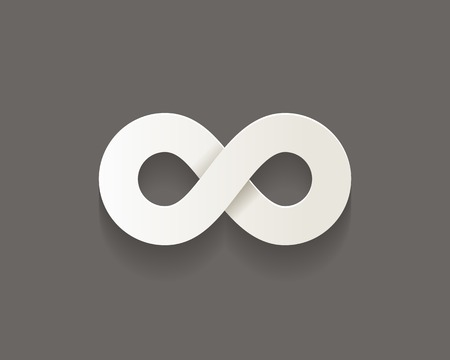 Infinity vector icon with shadow. Concept of business endless motion