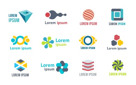 Templates and elements for logo. Emblems for business Vector