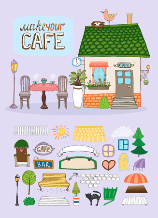 Make Your Cafe Vector