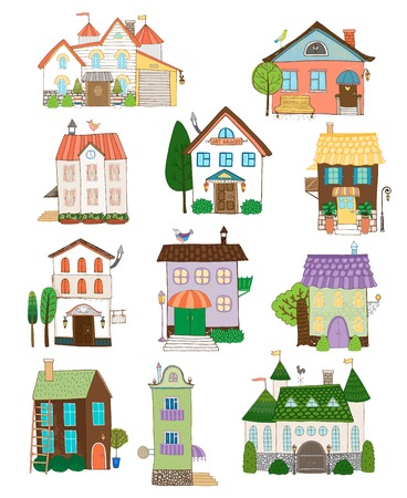 multi storey: Assorted cute houses collection