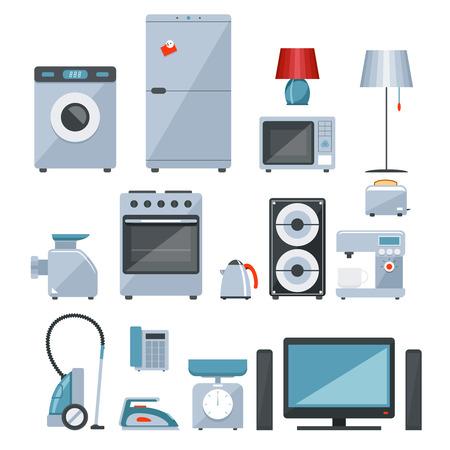 Farbige Symbole von Haushaltsgeräten