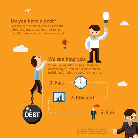 빚: 부채 포스터 개념
