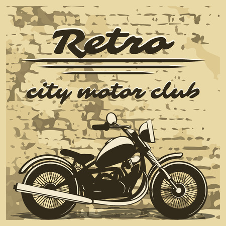 collectibles: Motorcycle design on distressed background