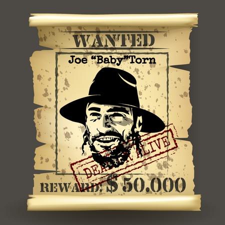 rancher: Wild west style wanted poster Illustration
