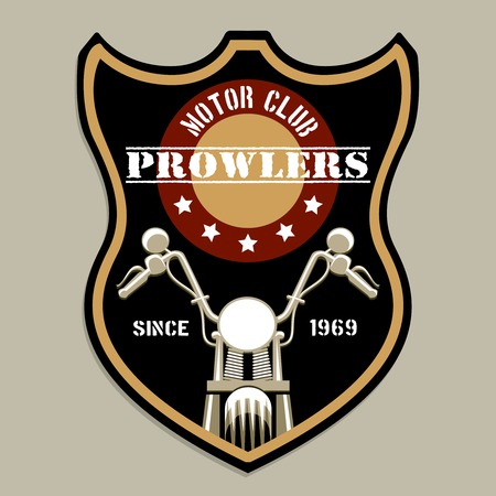 clubs: Motorcycle group badge-style logo Illustration