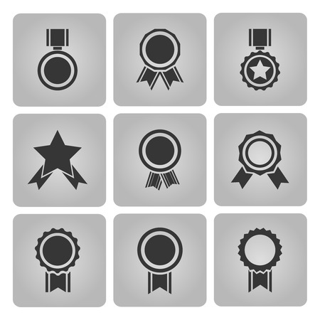 award ribbon rosette: medal and award icons