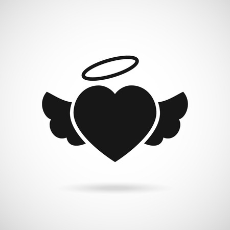 heart with wings: heart with wings icon