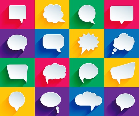 speech bubbles in flat style