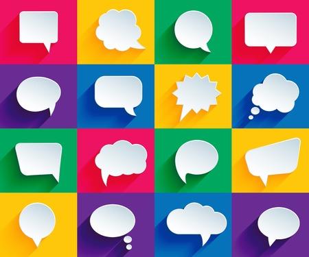 chat bubbles: speech bubbles in flat style