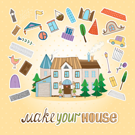Make Your House illustration  Vector