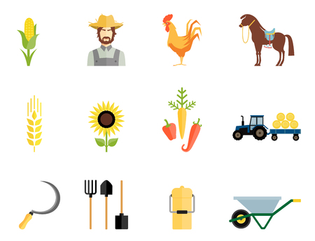 seed drill: Farmer tools icons