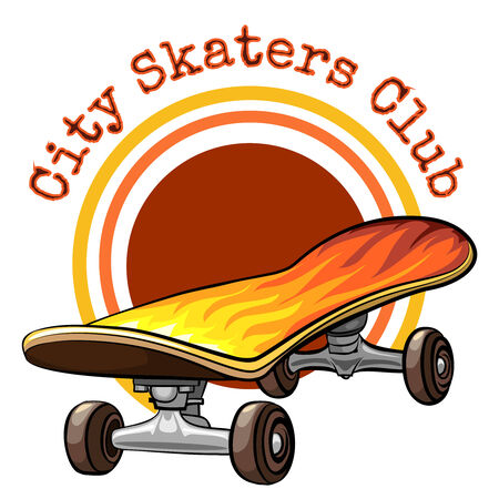skateboard: Vector skateboard emblem