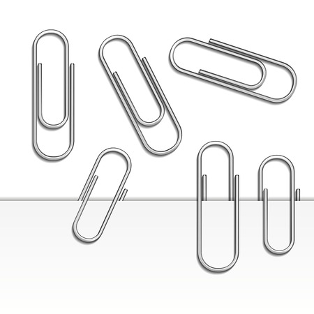 paperclip: vector paperclips
