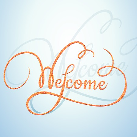 Welcome calligraphic text with a rope texture Vector