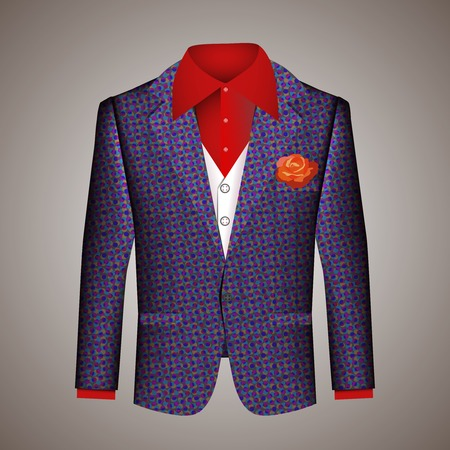 sophistication: Hipster suit of mens clothing