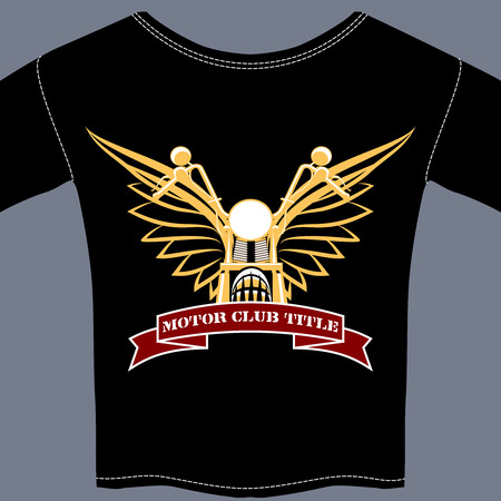 racing wings: biker tee shirt Illustration