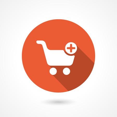 shopping button: shopping cart icon