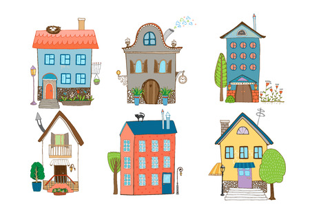 suburban home: Sweet Home Vector Illustration