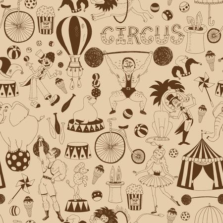 Retro nahtlose Hintergrundmuster Zirkus Standard-Bild - 30108885