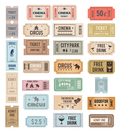 circus ticket: vector vintage tickets Illustration