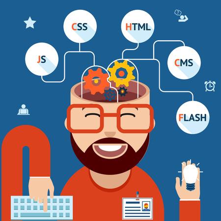 css: Sviluppatore di applicazioni web e mobile Vettoriali