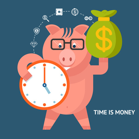 proficiency: Time Is Money - banking pig
