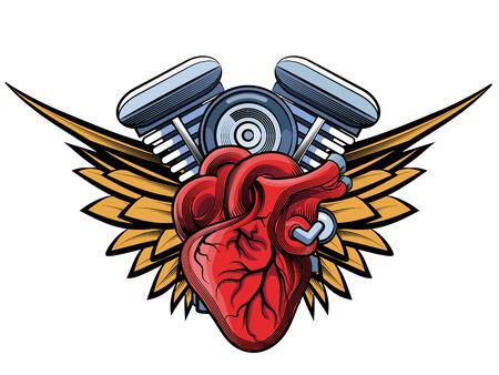 two stroke: etiqueta tatoo motor