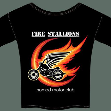biker t shirt template Vector