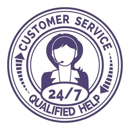 solucion de problemas: Icono redondo para el servicio al cliente no parada en blanco