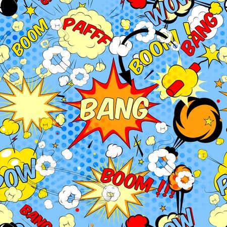 book background: comic book speech bubbles Illustration