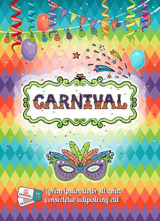 party streamers: Carnival poster