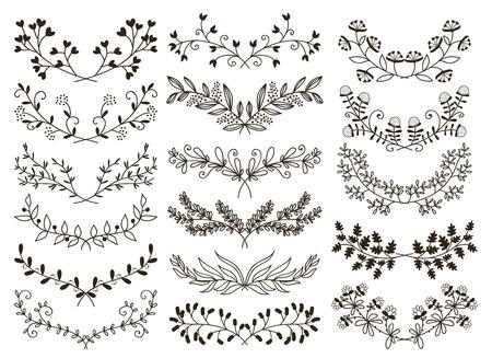 Floreale disegnato a mano Archivio Fotografico - 30509955