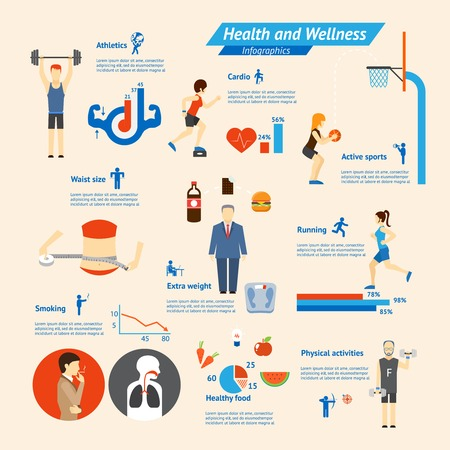 calorie: Fitness Infographics Illustration