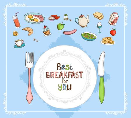 Best Breakfast For You Vector