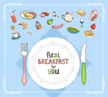 Best Breakfast For You Vector