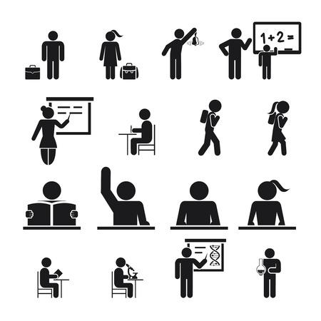 convivencia escolar: Niños Icons