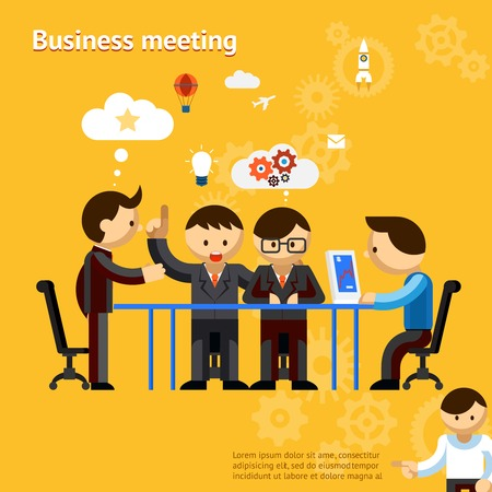 negotiate: Business meeting Illustration
