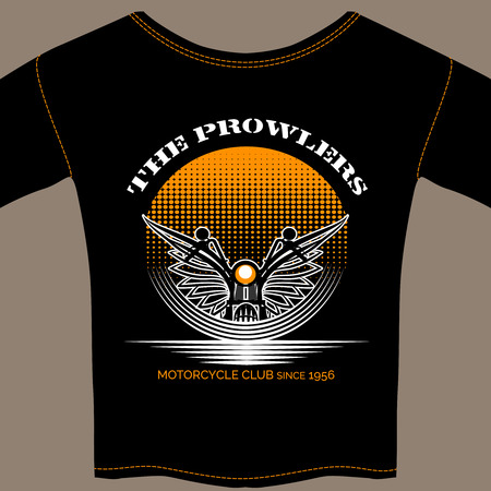 fraternity: T-shirt template for motorcycle club member