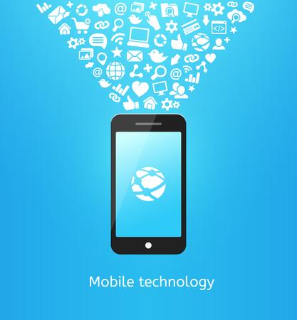 smartdigital: Smartphone on blue