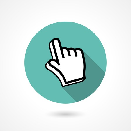click here icon: pointing finger icon