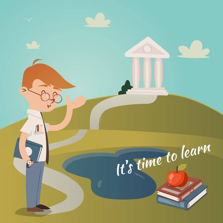 college building: Its Time To Learn