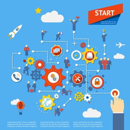 recursos humanos: de procesos de negocio Vectores