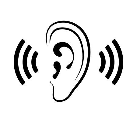 icone sanit�: icona orecchio Vettoriali
