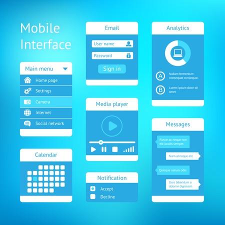 vector interface template design Vector