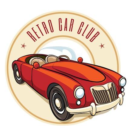 advertising signs: Retro car label