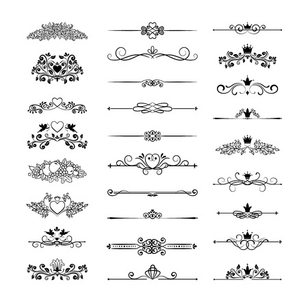 floral decoration: page decor with crowns Illustration