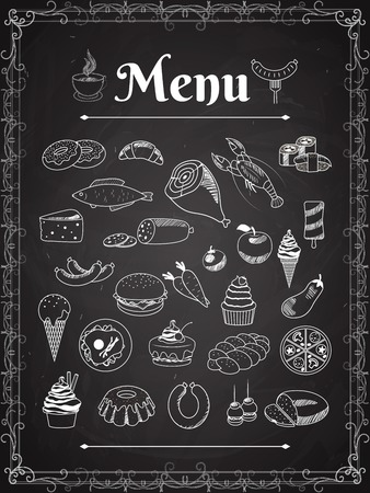 food menu Ilustrace